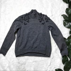 Anthro Knitted & Knotted Grey Long Sleeve Sweater